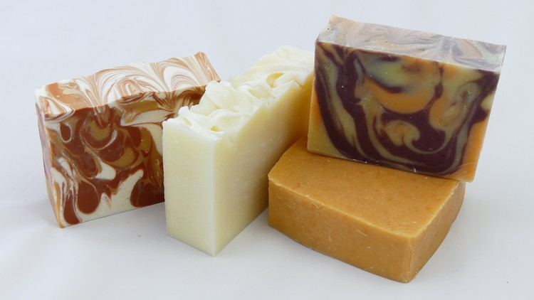Handmade soaps are made