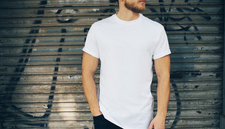 wear a t-shirt for a man